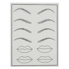 Σιλικόνη πρακτικής για μόνιμο μακιγιάζ τατουάζ Φρύδια χείλια