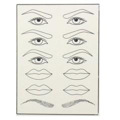 Σιλικόνη πρακτικής για μόνιμο μακιγιάζ τατουάζ Φρύδια μάτια χείλια