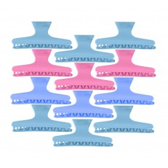 Κλάμερ μαλλιών πλαστικά 12 τεμάχια.