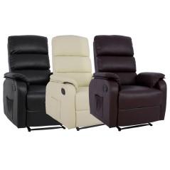 Πολυθρόνα relax με ανάκληση & μηχανισμό μασάζ.
