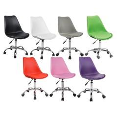 Καρέκλα inox-πολυπροπυλενίου και pu τεχνοδέρματος.