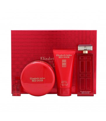 Elizabeth Arden Red Door EDT 100ml. Parfum Replica 5 ml. Body Powder 75 gr. Body Cream 150ml.
