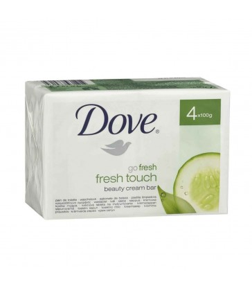 Dove Soap Fresh Touch Beauty Σαπούνι, Προσφορά 3 + 1 Δώρο 4x100gr.