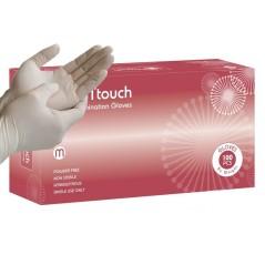 Γάντια latex λευκά χωρίς πούδρα.