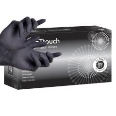 Γάντια latex μαύρα χωρίς πούδρα.