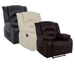 Πολυθρόνα relax με ανάκληση & μηχανισμό μασάζ με τεχνόδερμα pu.