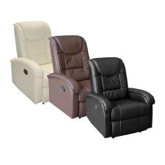 Πολυθρόνα relax με μηχανισμό μασάζ ανάκληση και pu τεχνόδερμα.