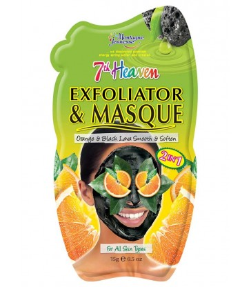 Montagne Jeunesse Exfoliator & Masque Orange & Black Lava Smooth And Soften 15ml.