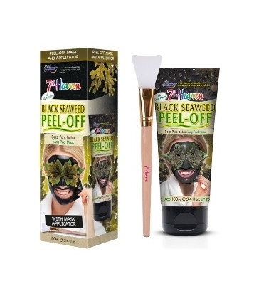 Montagne Jeunesse Black Seaweed Peel-Off Mask 100ml. with mask applicator.