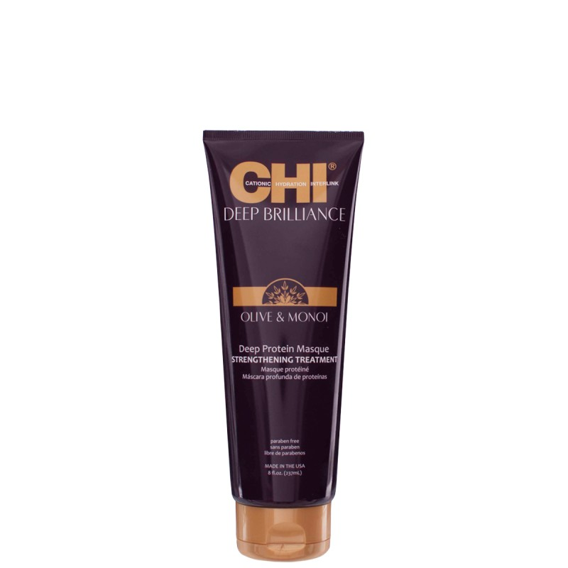 CHI Deep Brilliance Olive & Monoi Deep Protein Masque Strengthening 237ml.