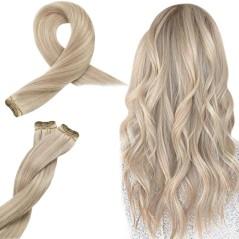 Τρέσα Μαλλιών N°Viking Blonde από 100% φυσική τρίχα Remy 50 cm 100gr.