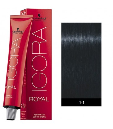 Igora Royal Ash 60ml N°1-1 Μαύρο Μπλε