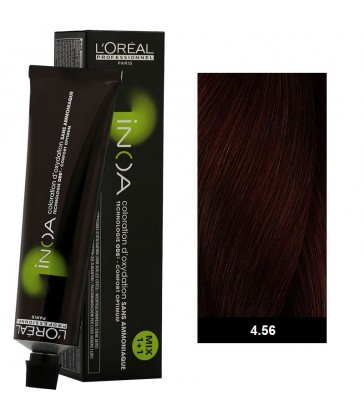 L'oreal Professionnel Inoa High Resist 60ml N°4.56 Καστανό Ακαζού Κόκκινο