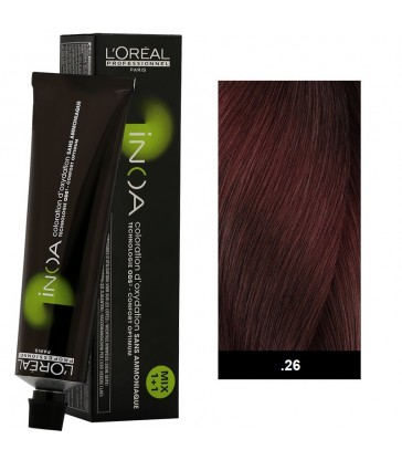 L'oreal Professionnel Inoa 60ml N°.26 Ruby Bronze Medium Bases fundamental