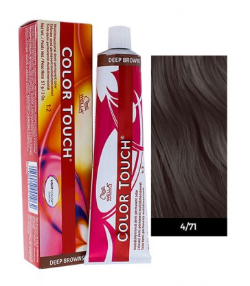 Wella Professionals Color Touch Deep Browns 60ml N°4/71 Μεσαίο Καστανό Σταχτύ