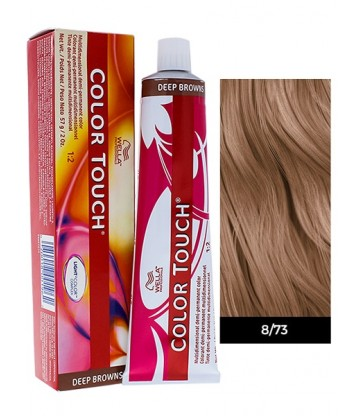 Wella Professionals Color Touch Deep Browns 60ml N°8/73 Ξανθό Ανοιχτό Καφέ Χρυσό