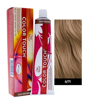 Wella Professionals Color Touch Deep Browns 60ml N°8/71 Ξανθό Ανοιχτό Καφέ Σαντρέ
