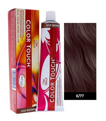 Wella Professionals Color Touch Deep Browns 60ml N°6/77 Ξανθό Σκούρο Καφέ Έντονο