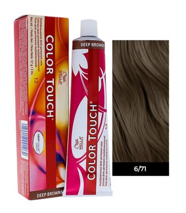 Wella Professionals Color Touch Deep Browns 60ml N°6/71 Ξανθό Σκούρο Καφέ Σαντρέ