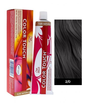 Wella Professionals Color Touch Pure Naturals 60ml N°2/0 Μαύρο