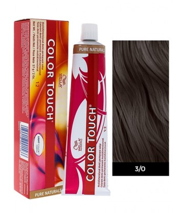 Wella Professionals Color Touch Pure Naturals 60ml N°3/0 Καστανό Σκούρο