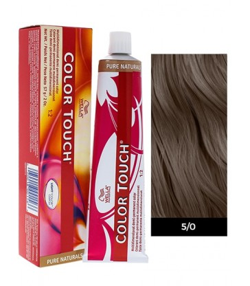 Wella Professionals Color Touch Pure Naturals 60ml N°5/0 Καστανό Ανοιχτό