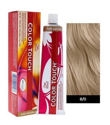 Wella Professionals Color Touch Pure Naturals 60ml N°8/0 Ξανθό Ανοιχτό