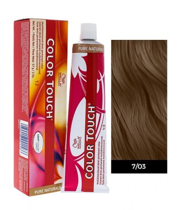 Wella Professionals Color Touch Pure Naturals 60ml N°7/03 Ξανθό Φυσικό Χρυσό