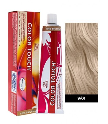 Wella Professionals Color Touch Pure Naturals 60ml N°9/01 Ξανθό Πολύ Ανοιχτό Φυσικό Σαντρέ