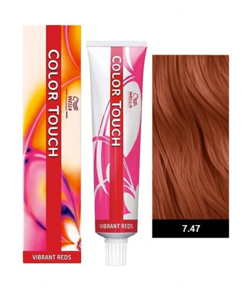 Wella Professionals Color Touch Vibrant Reds 60ml N°7/47 Ξανθό Κόκκινο Καφέ
