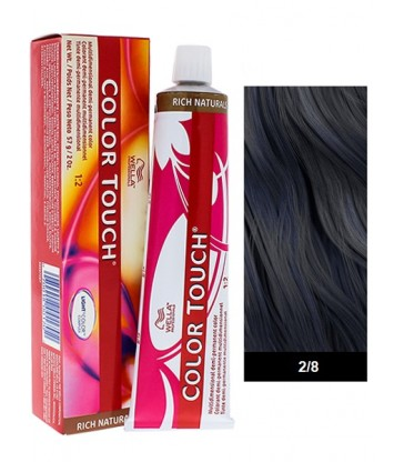 Wella Professionals Color Touch Rich Naturals 60ml N°2/8 Μαύρο Μπλε