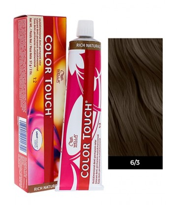 Wella Professionals Color Touch Rich Naturals 60ml N°6/3 Ξανθό Σκούρο Χρυσό