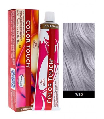 Wella Professionals Color Touch Rich Naturals 60ml N°7/86 Ξανθό Περλέ Βιολέ