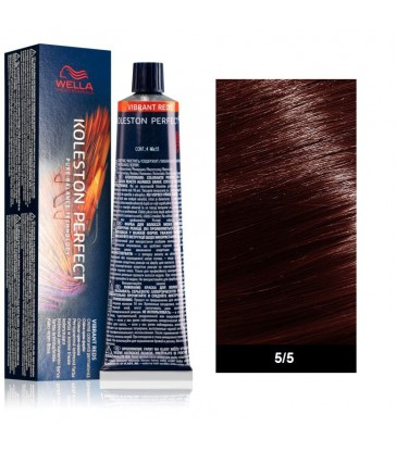 Wella Professional Koleston Perfect Vibrant Reds 60ml N°5/5 Καστανό Ανοιχτό Μαονί