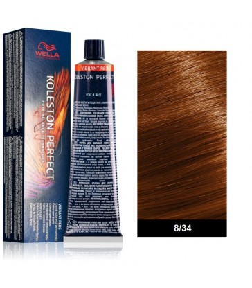Wella Professional Koleston Perfect Vibrant Reds 60ml N°8/34 Ξανθό Ανοιχτό Χρυσό Κόκκινο