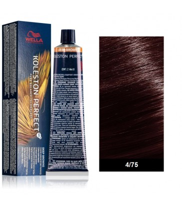 Wella Professional Koleston Perfect Deep Browns 60ml N°4/75 Καστανό Καφέ Μαονί