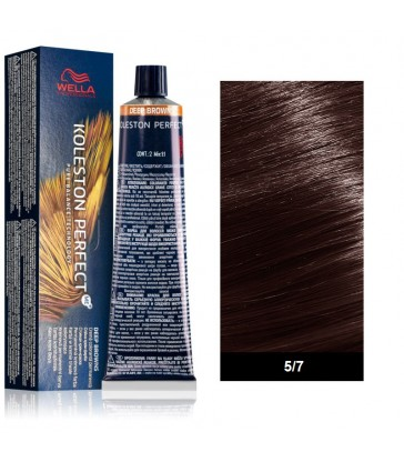 Wella Professional Koleston Perfect Deep Browns 60ml N°5/7 Καστανό Ανοιχτό Καφέ