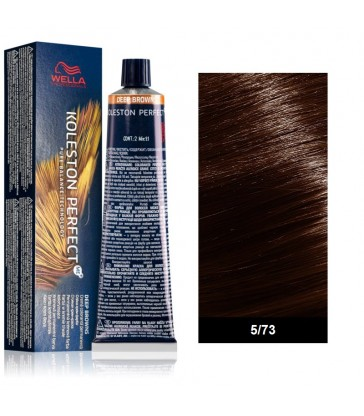 Wella Professional Koleston Perfect Deep Browns 60ml N°5/73 Καστανό Ανοιχτό Καφέ Χρυσό