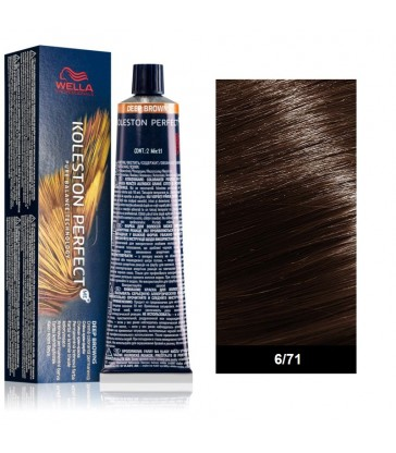 Wella Professional Koleston Perfect Deep Browns 60ml N°6/71 Ξανθό Σκούρο Καφέ Σαντρέ