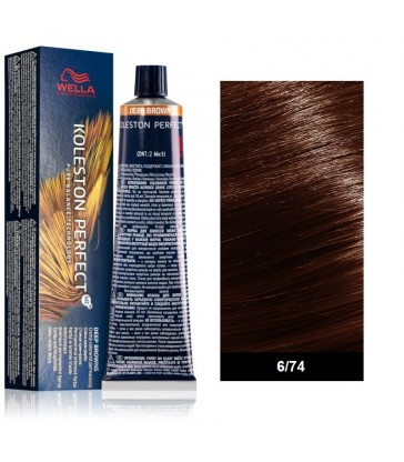 Wella Professional Koleston Perfect Deep Browns 60ml N°6/74 Ξανθό Σκούρο Καφέ Κόκκινο