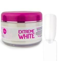 Σκόνη Ακρυλικού νυχιών Extreme white - λευκό καλυπτικό 120g.