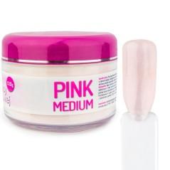Σκόνη Ακρυλικού νυχιών Pink Medium - Μεσαίο Ροζ διάφανο 120g.