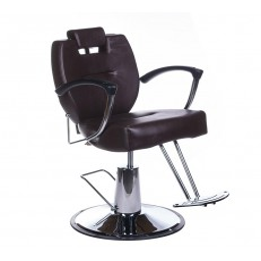 Πολυθρόνα κουρείου Hektor καφέ χρώμα