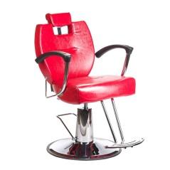 Πολυθρόνα κουρείου Hektor κόκκινο χρώμα