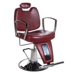 Πολυθρόνα κουρείου Homer II χρώμα κόκκινο