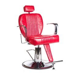 Πολυθρόνα κουρείου Olaf χρώμα κόκκινο